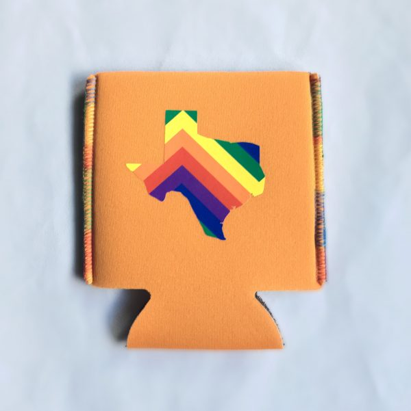 orange pride koozie