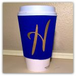Coffee Cup Sleeve with custom intial.