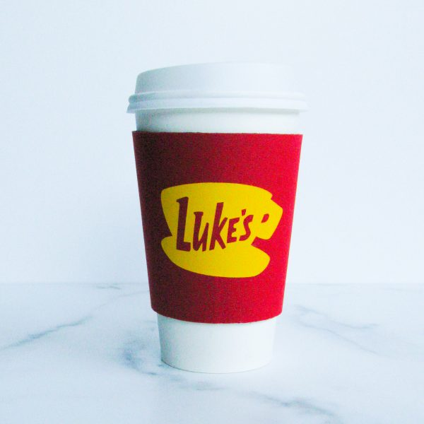 Luke's coffee cup sleeve gilmore girls