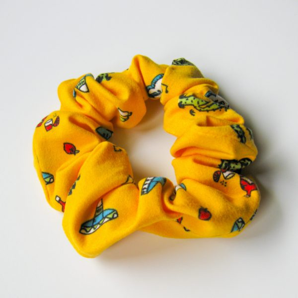yellow fiesta scrunchie
