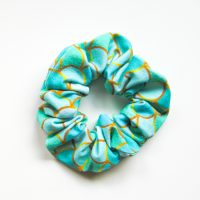 sea green mermaid tail scrunchie