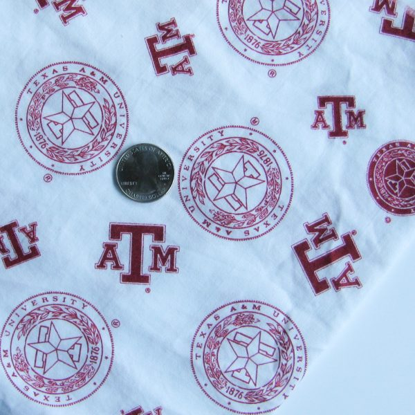 White Texas A&M Aggies Fabric face mask