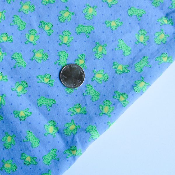 Green Frogs Fabric face mask