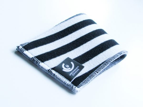 Striped cup sleeve