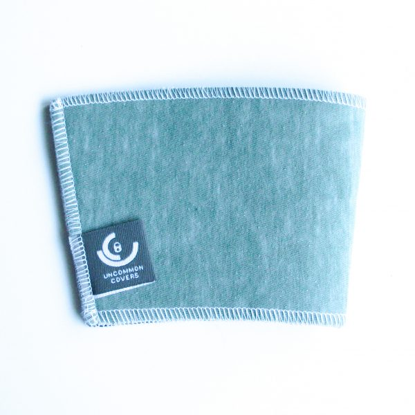 green tee upcycled cup sleeve