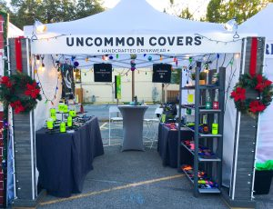 uncommon covers christmas booth 2019