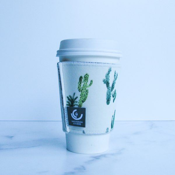 Double-Layer Cactus Green Cup Sleeve
