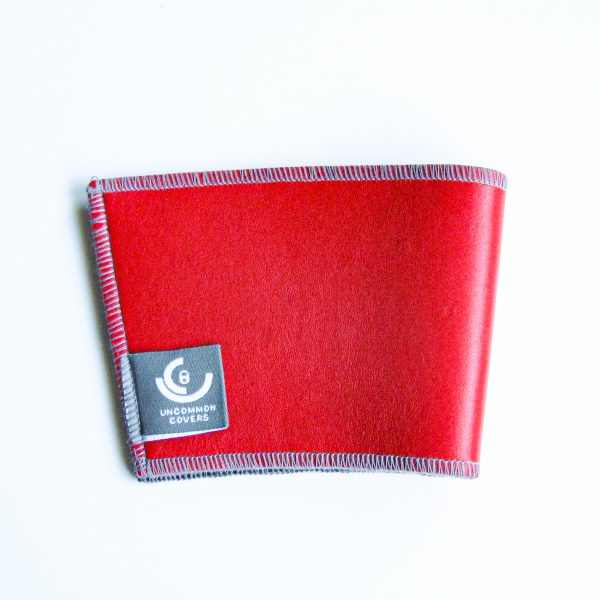 Red Leather Cup Sleeve