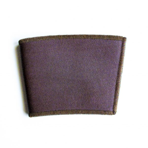 Maroon Leather Cup Sleeve