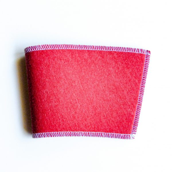 Red & white cup sleeve