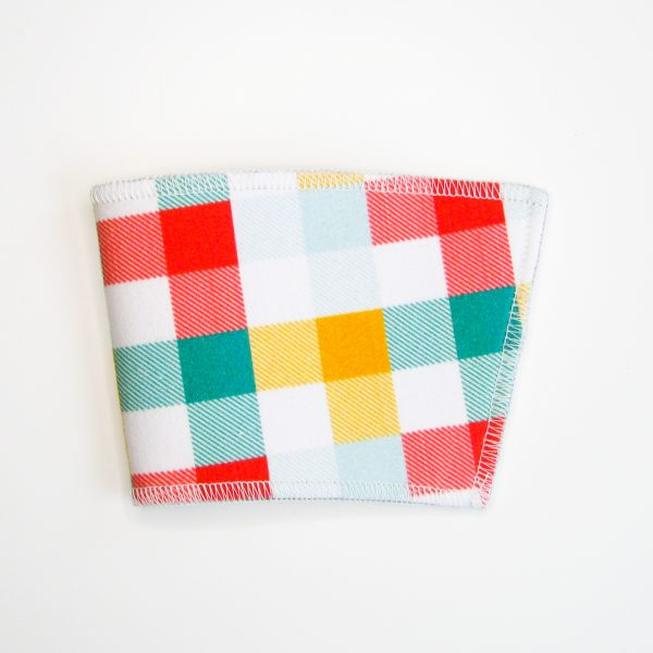 Winter plaid cup sleeve